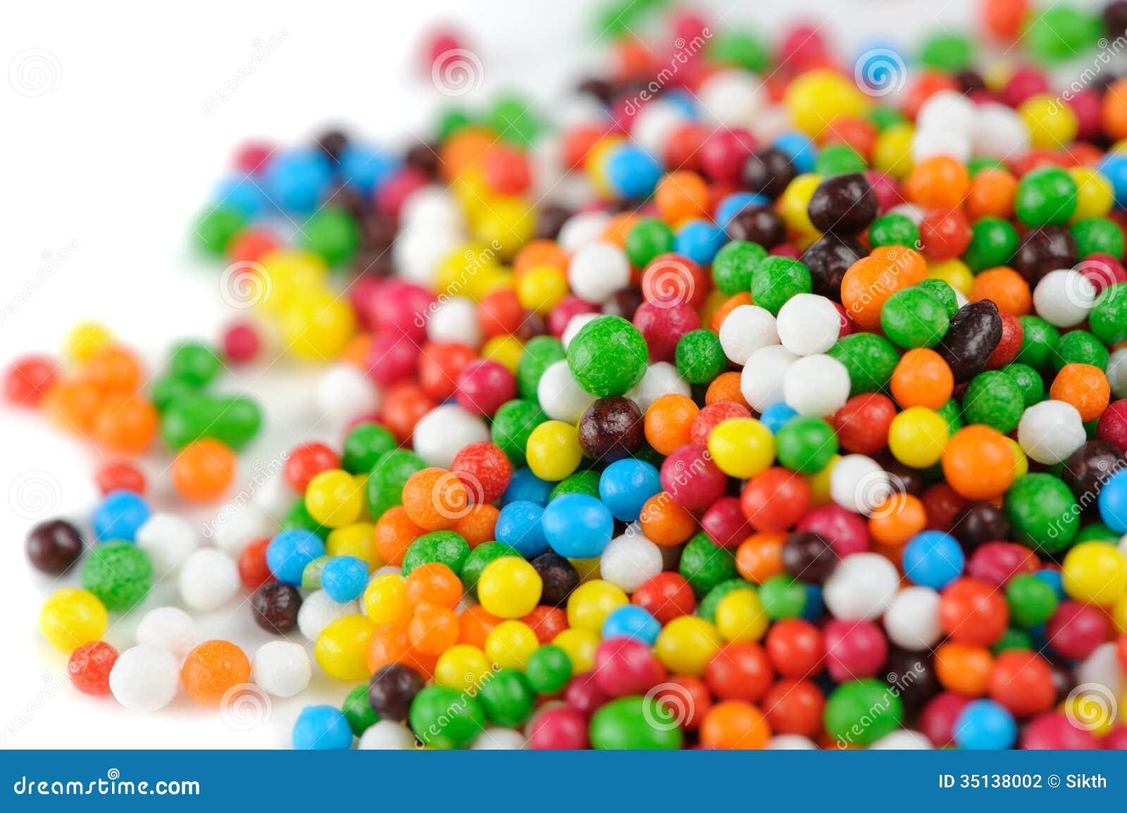 Multicolored Sugar Sprinkles (Edible Cupcake Decorations) Close-Up ...