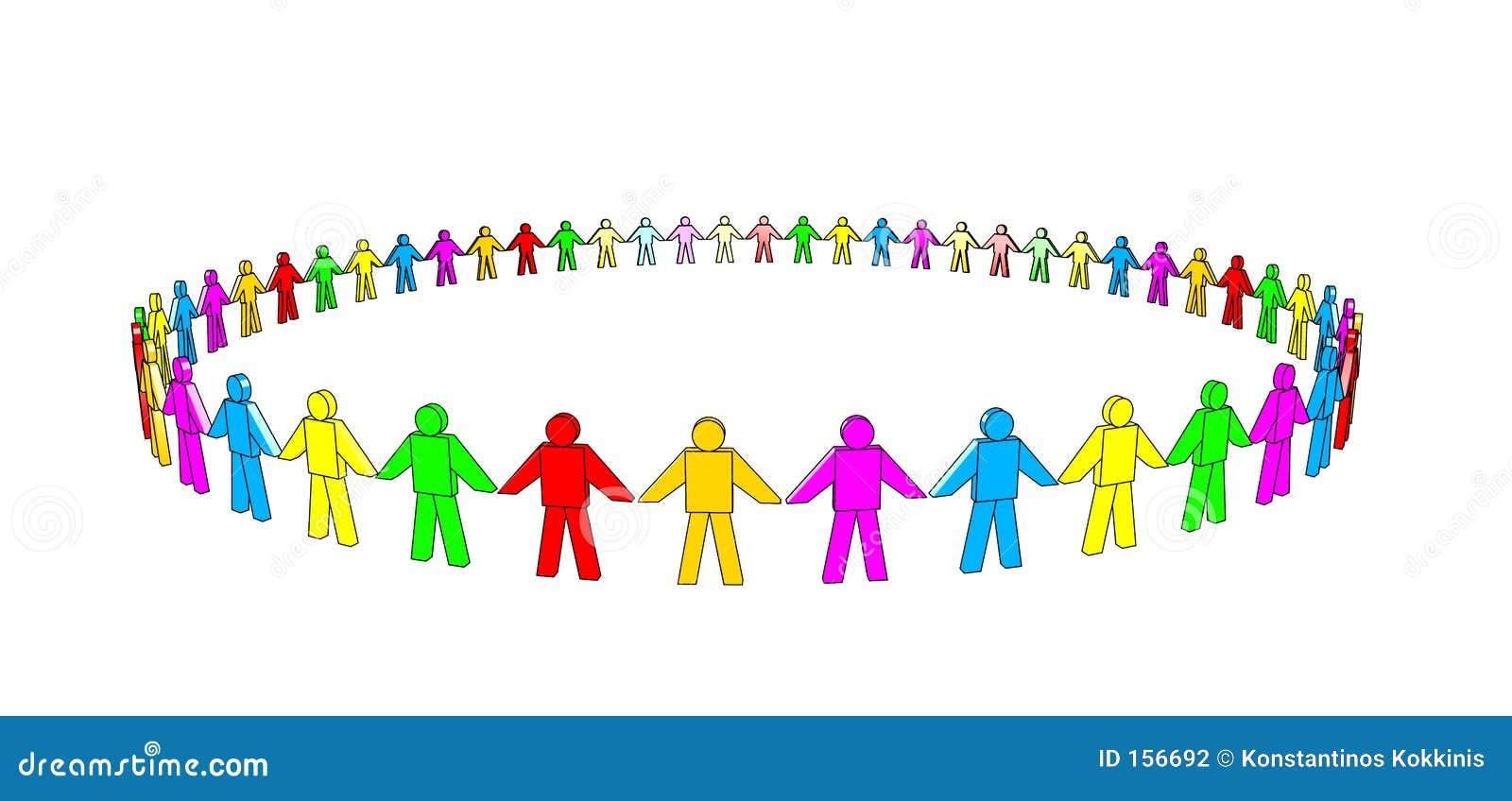 Multicolored Team