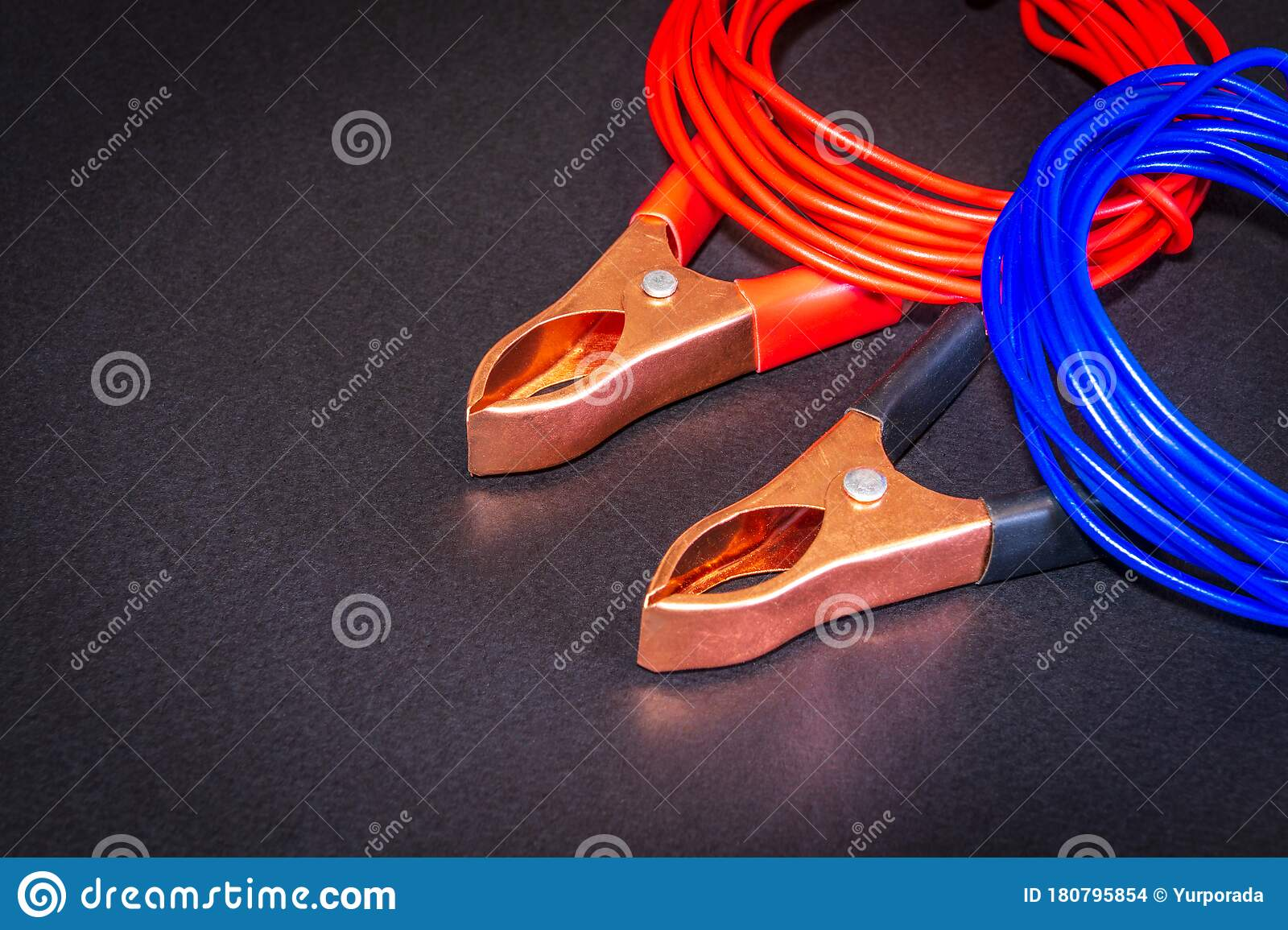 Multicolored Wires And Alligator Clips Prepared For Master Electrician On Black Background Stock Photo Image Of Connection Closeup 180795854