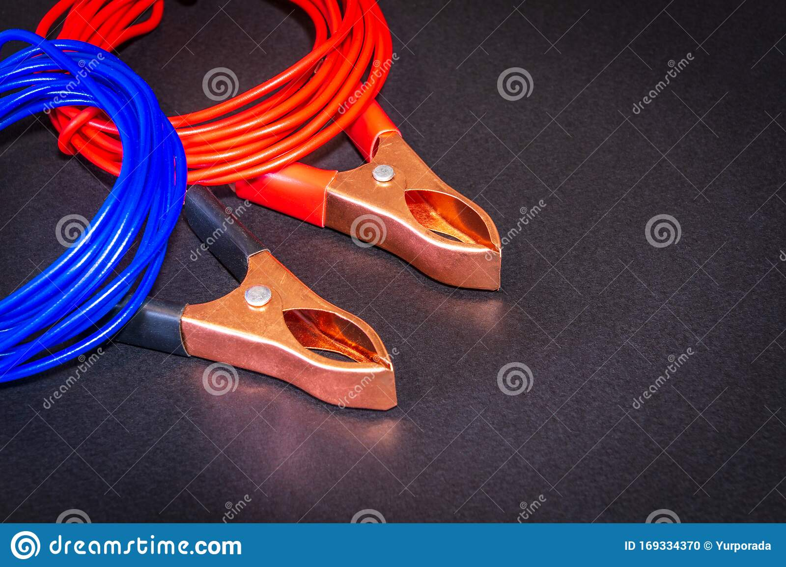 Multicolored Wires And Alligator Clips Prepared For Master Electrician Stock Photo Image Of Plug Insulation 169334370