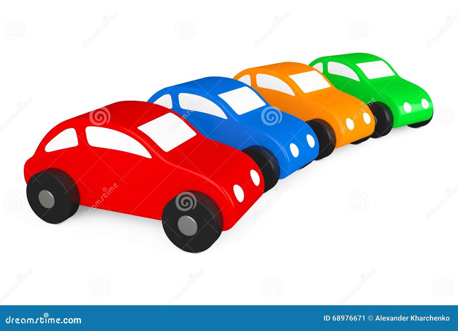 Multicolour Cartoon Toy Cars Stock Illustration
