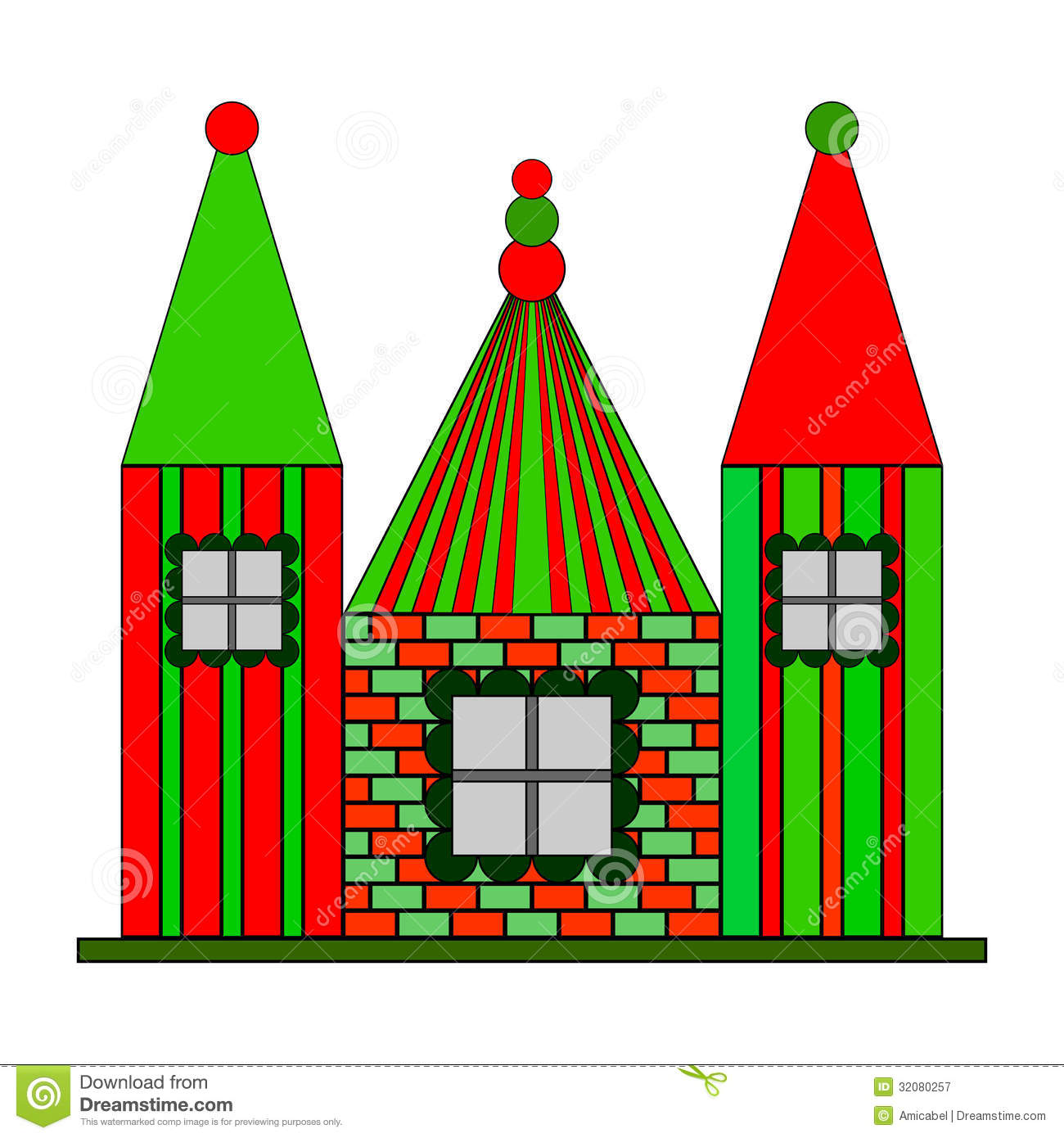 Multicolour design castle royalty free stock photography Design a castle online