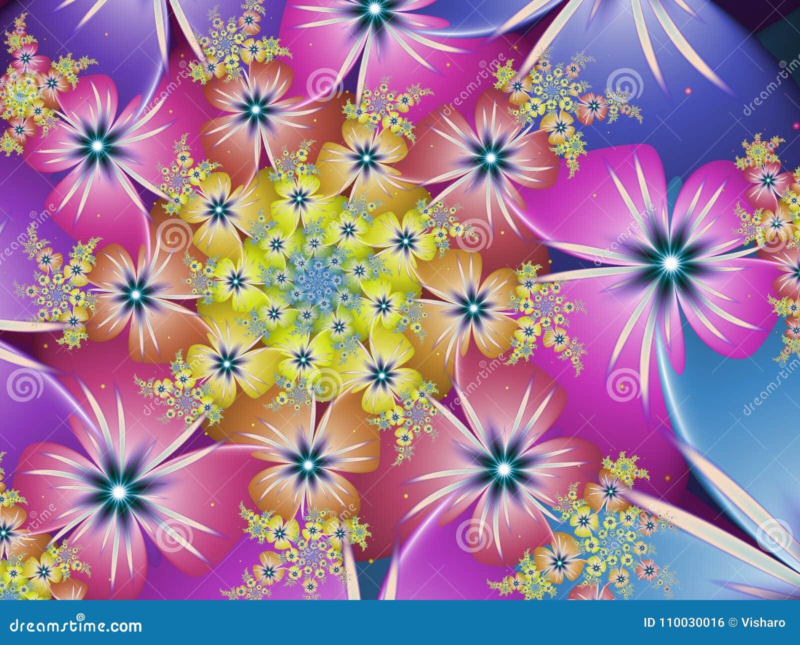 Multicoloured Bloemfractal