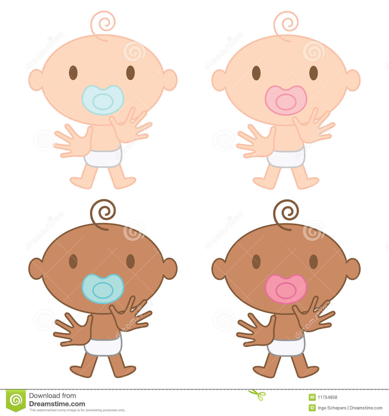 Multicultural Babies Illustration Royalty Free Stock Photos Image 11754858