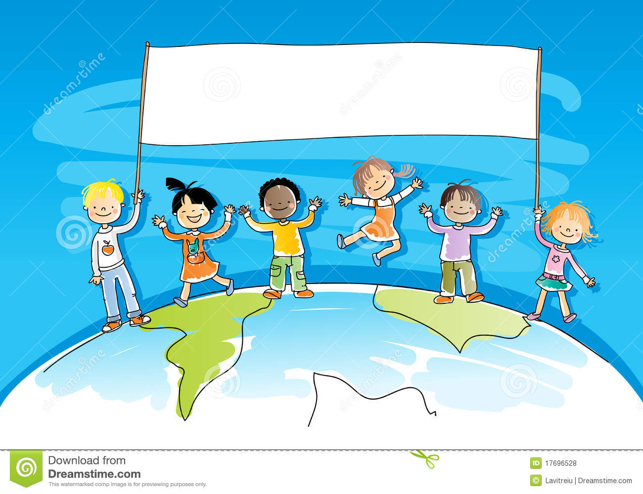 multicultural children stock vector image of copy