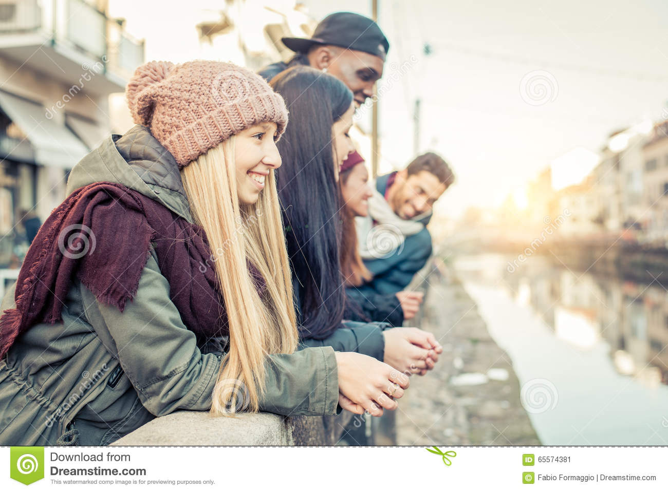 Multicultural group of friends stock photo image 65574381 for Hanging groups of pictures