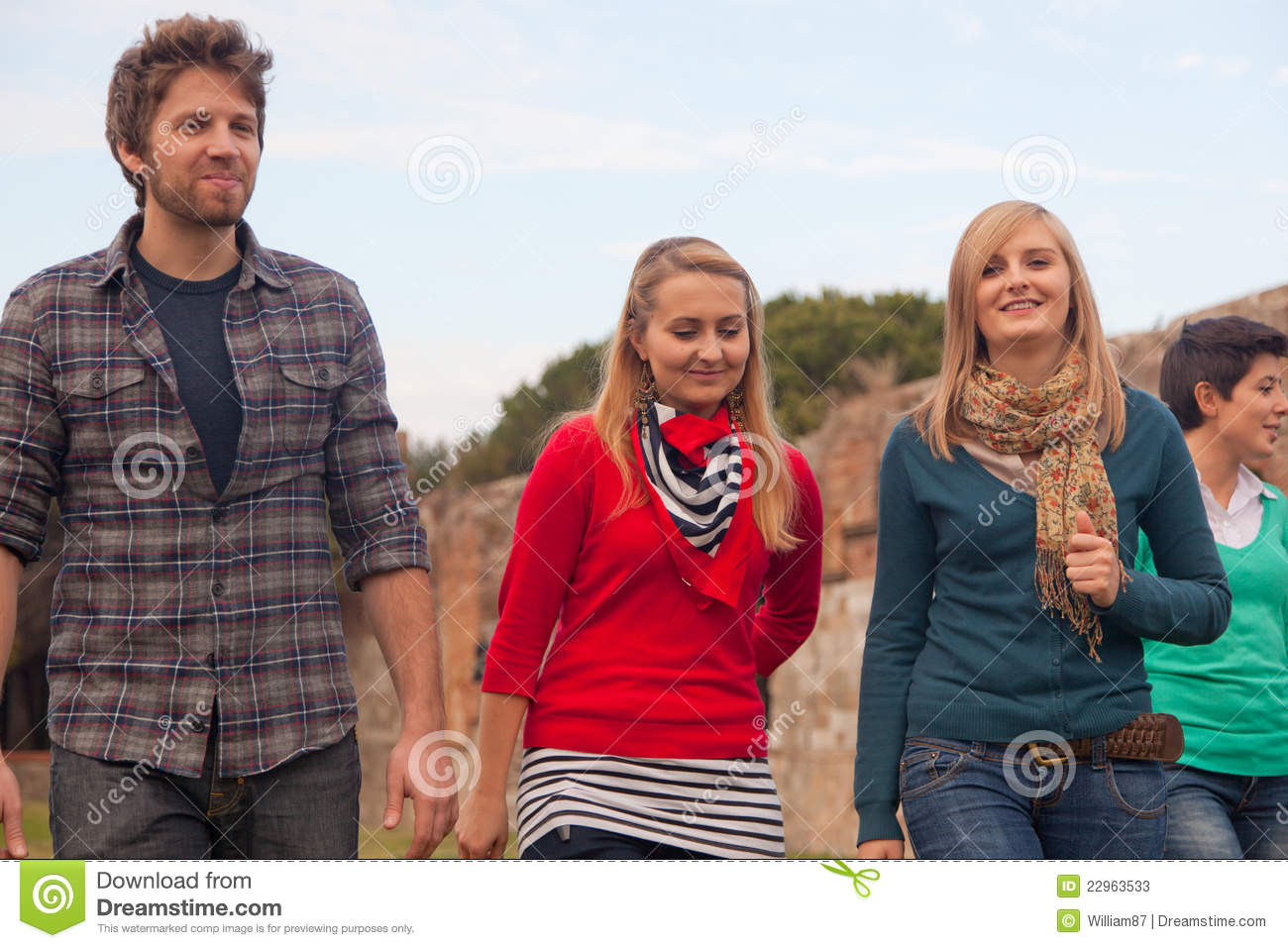 Multicultural Group Of People Walking Together Stock Photo ...  Multicultural People Talking Together