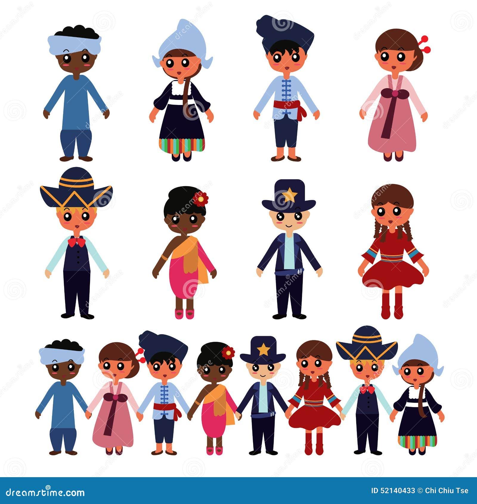 Multicultural Kids Stock Illustration Image 52140433