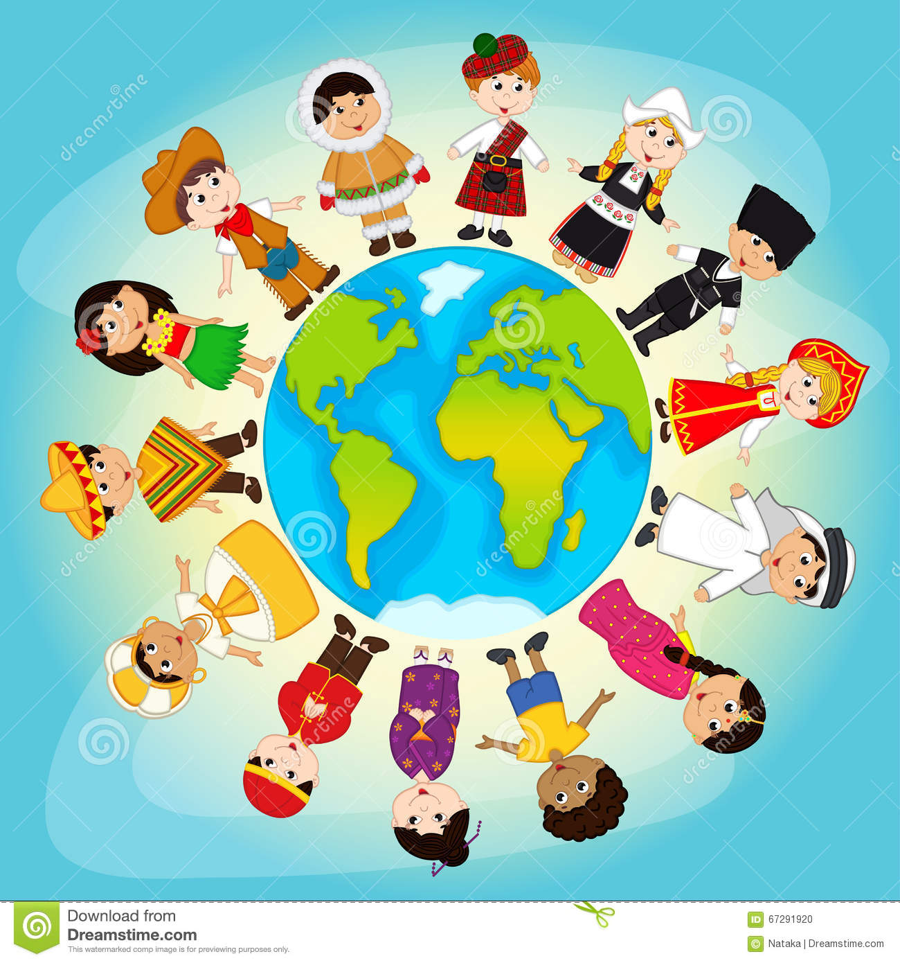 Multicultural People On Planet Earth Stock Vector ...