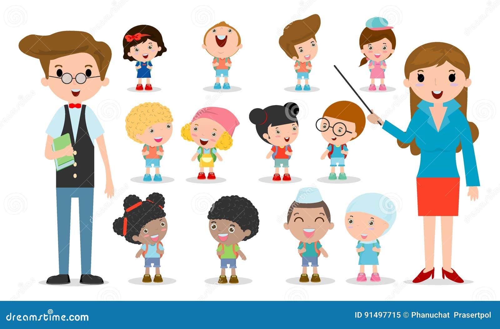 Multicultural school kids group teacher and students children go download comp toneelgroepblik Choice Image