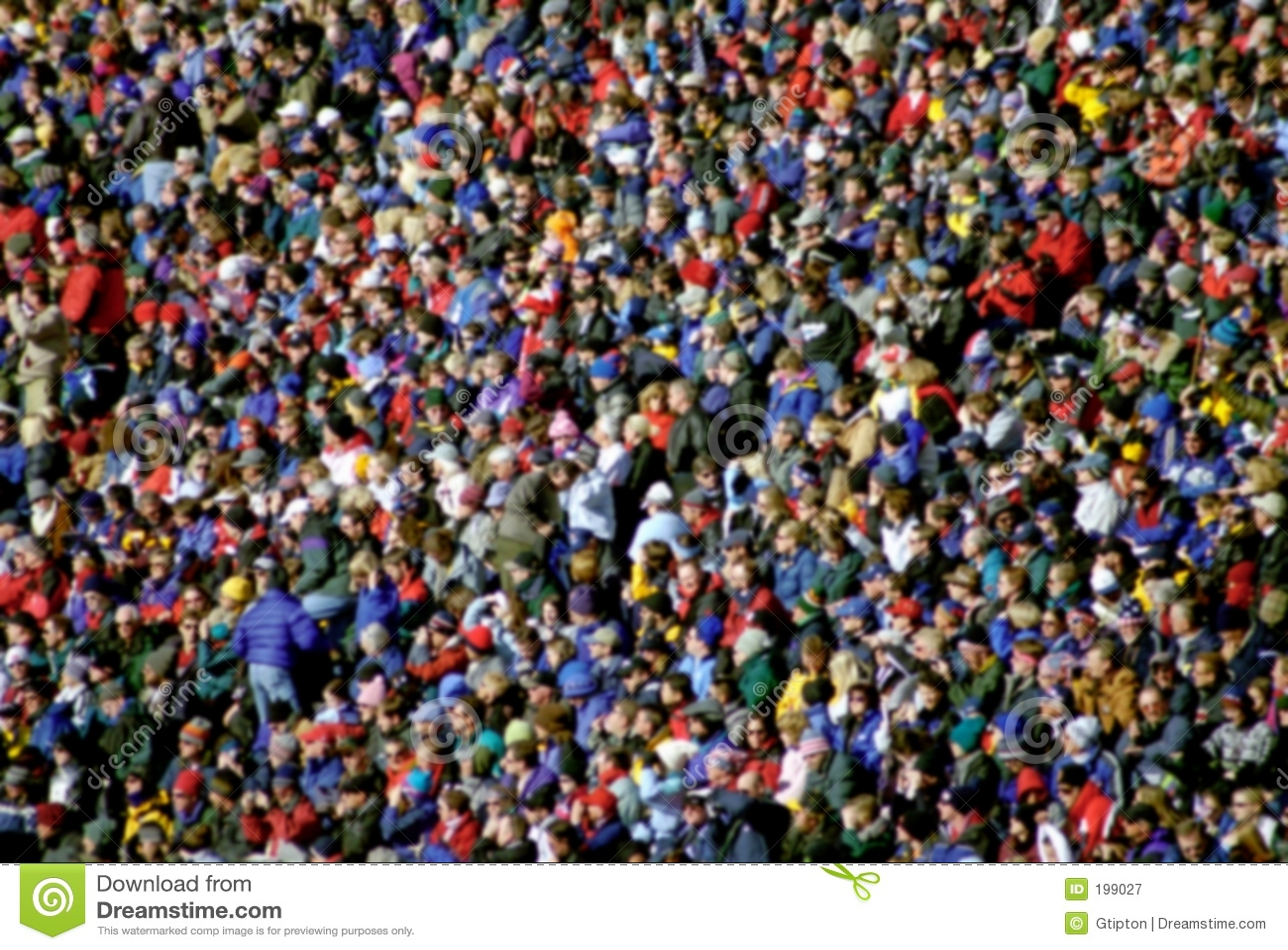 Multidão abstrata diversa