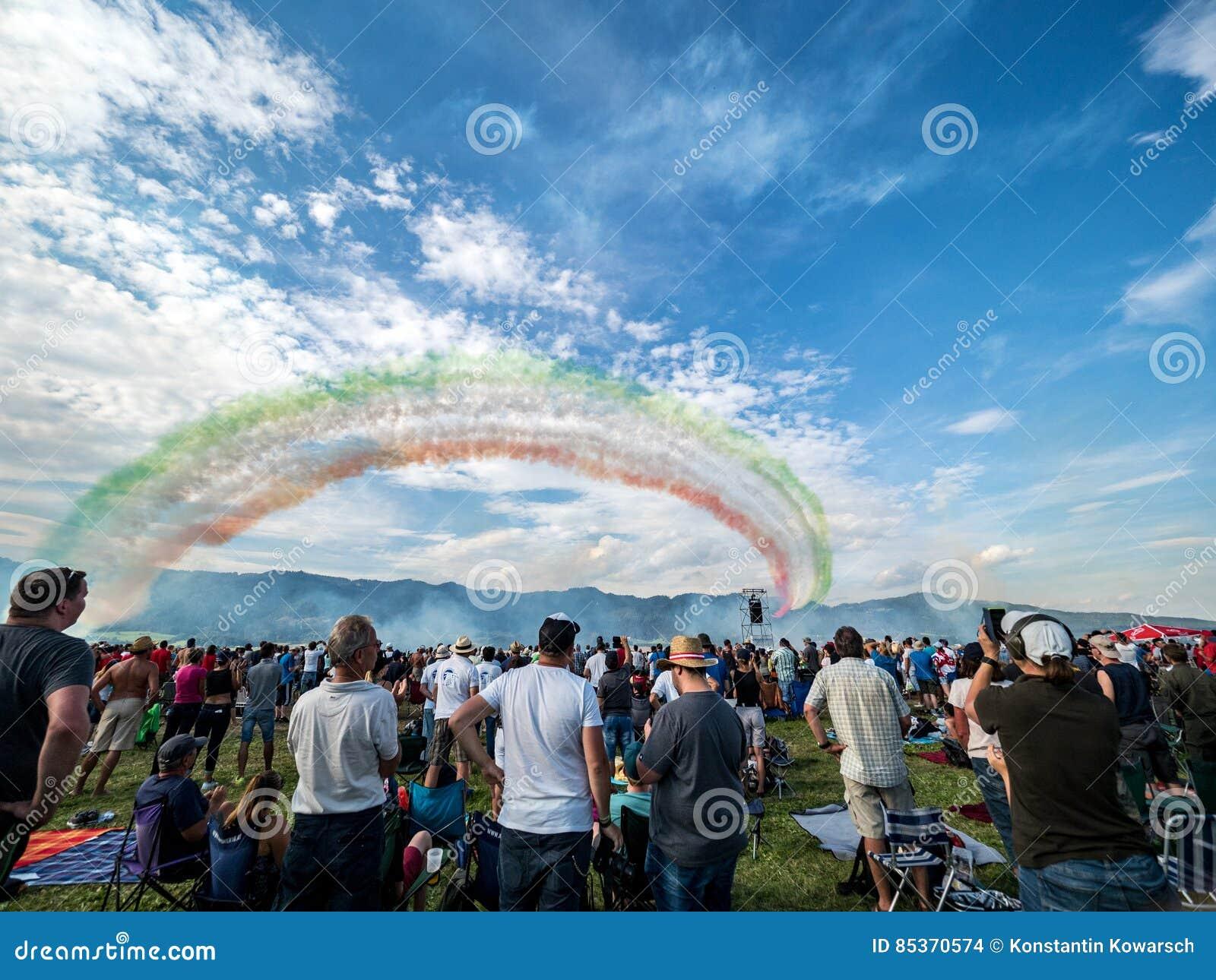 Multidão de Airshow