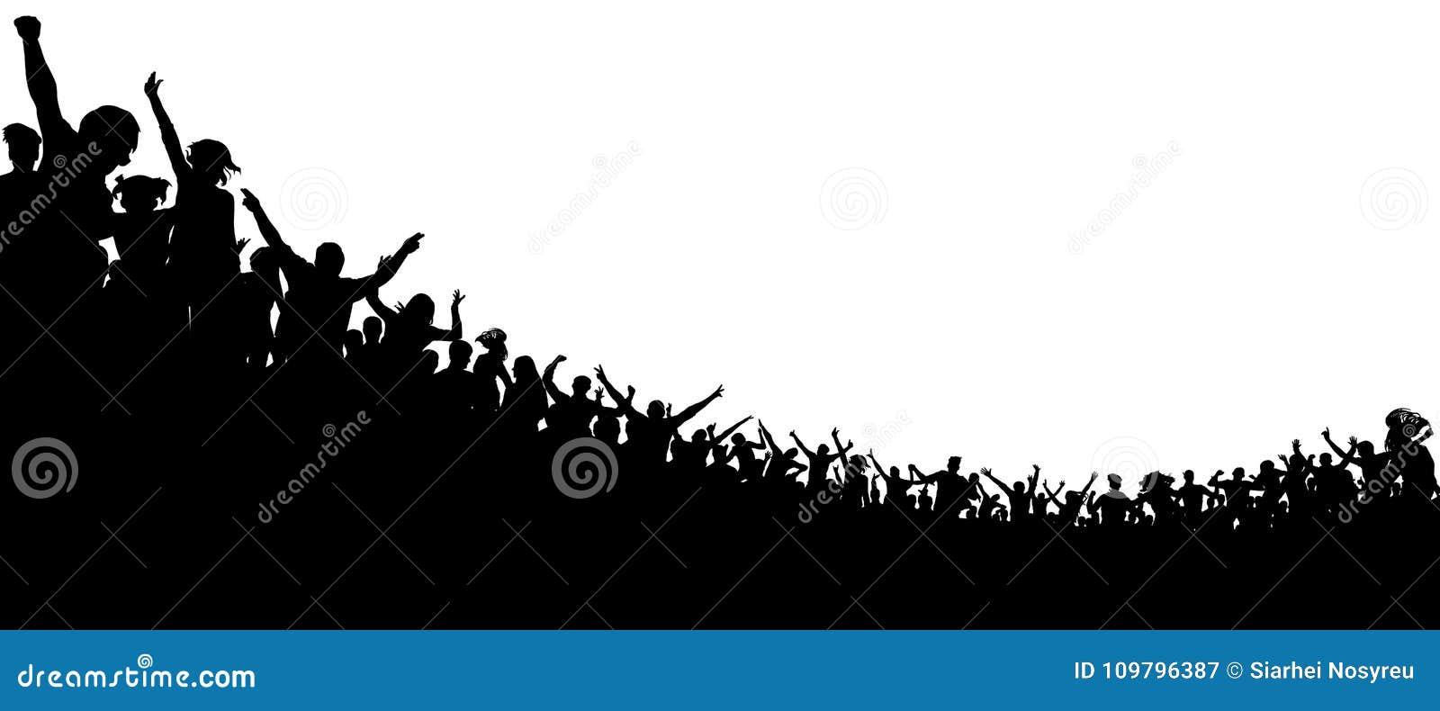 Multidão de povos aplaudidos Fãs de esportes Ventiladores no concerto Audiência do aplauso