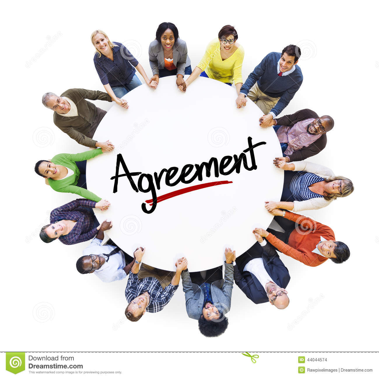 Multiethnic Group Of People And Agreement Concepts Stock