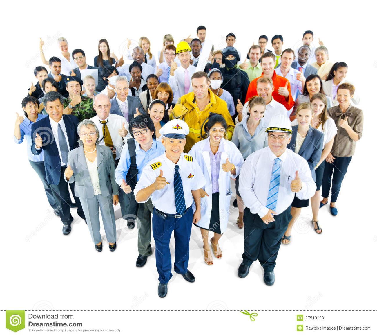 Royalty Free Stock Photos Multiethnic Group People Variety Occupation ...
