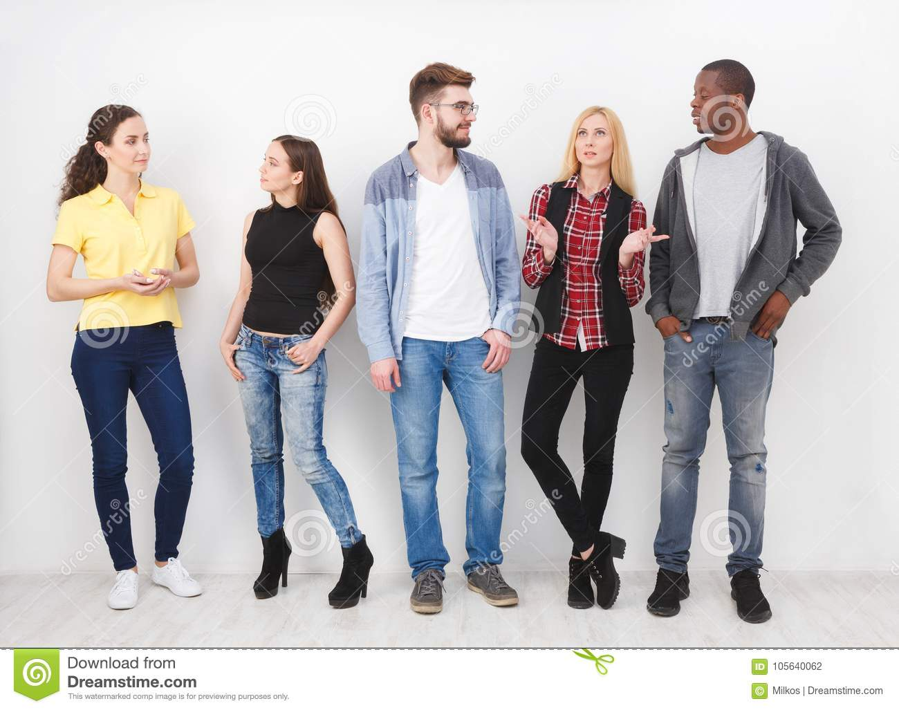 Group of young adults standing