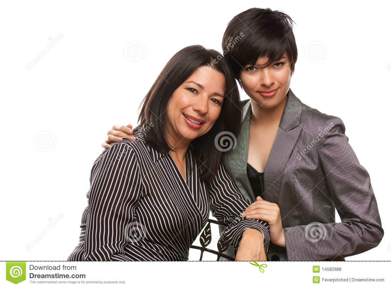 Multiethnic Mother and Daughter Portrait