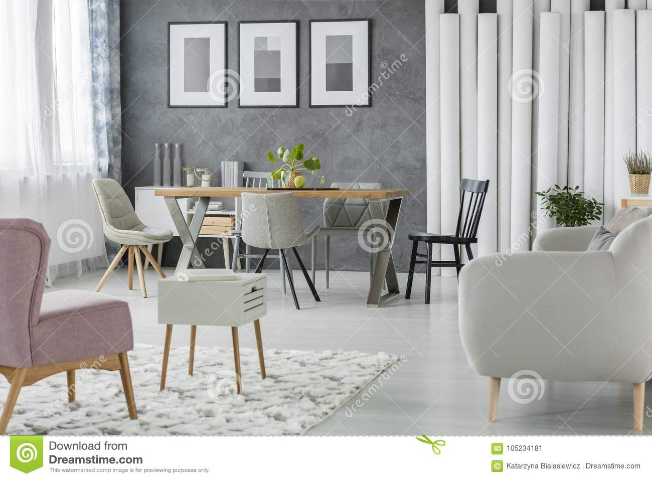 Multifunctional Living Room With Table