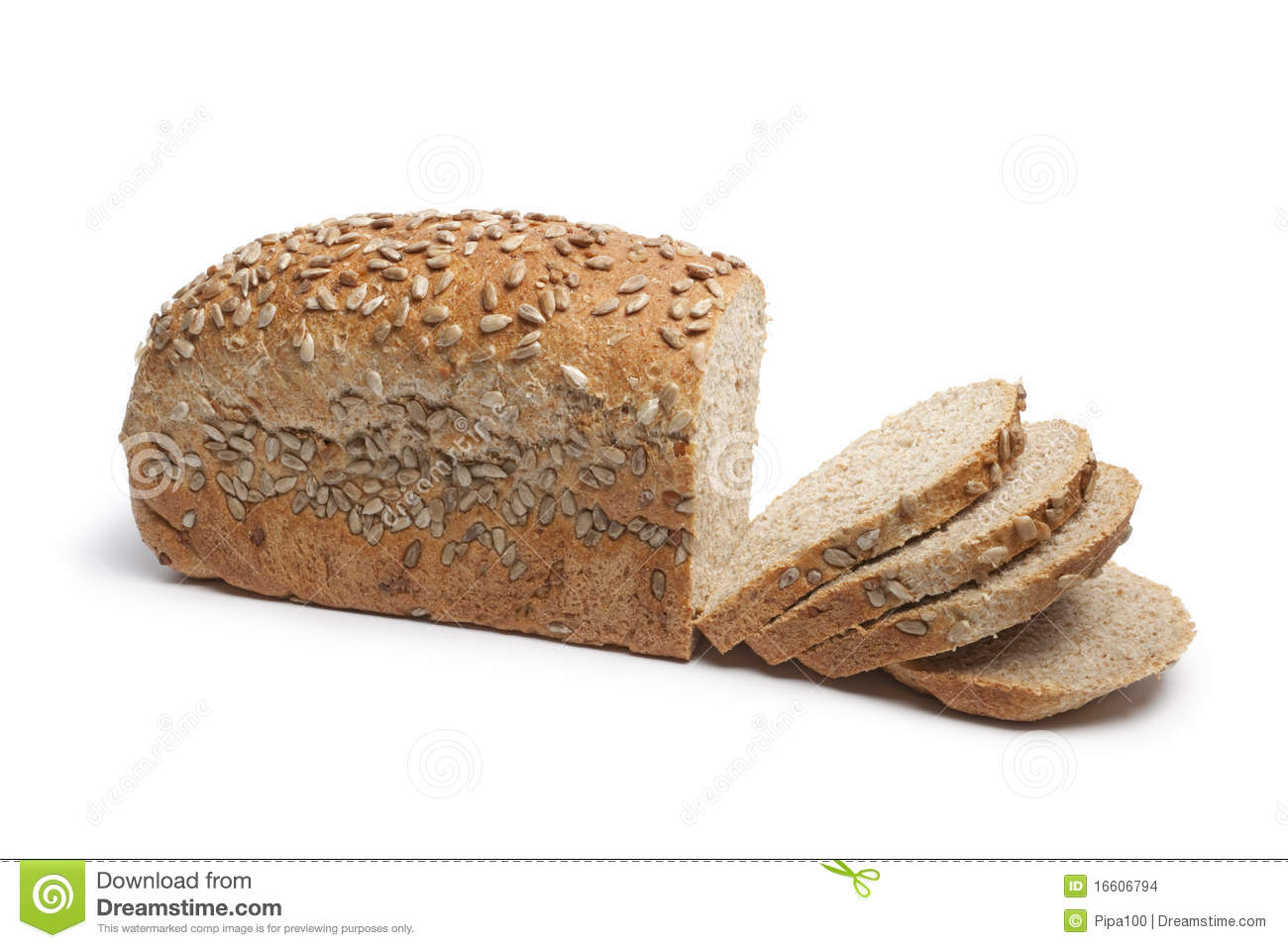 Multigrain Bread With Sunflower Seeds Stock Images - Image: 16606794