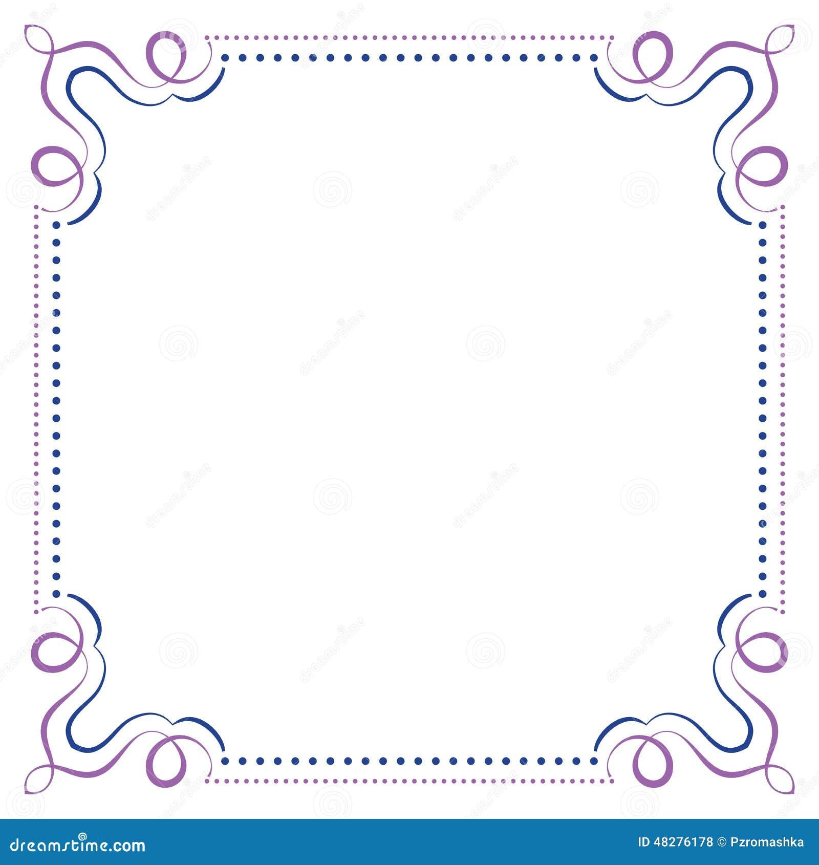 2d46f142ab52 Multilayer vector violet blue elegant square frame. More similar stock  illustrations
