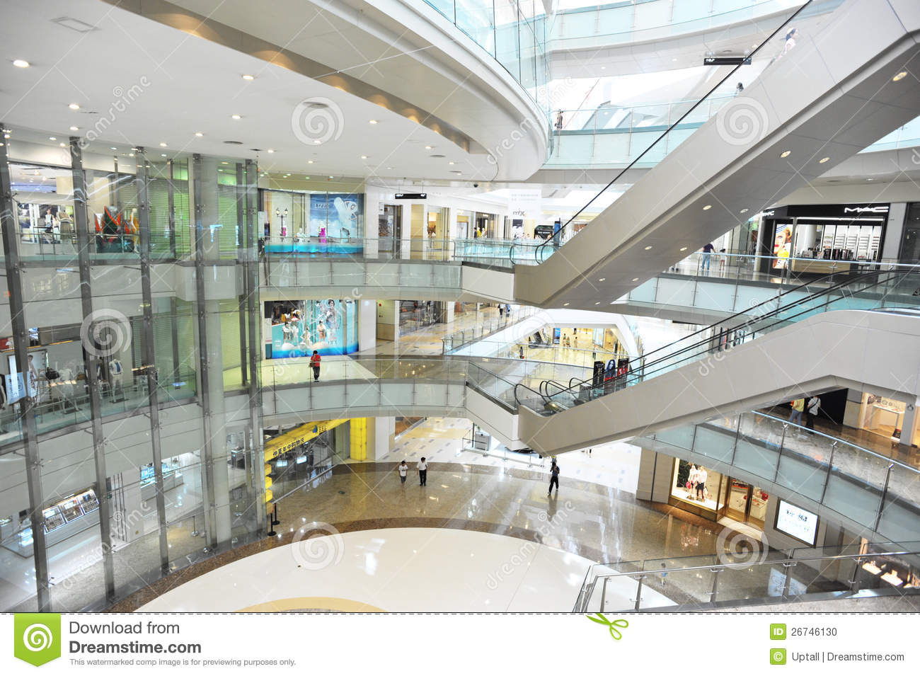 Multilevel shopping mall interior editorial image image for Interior design shopping
