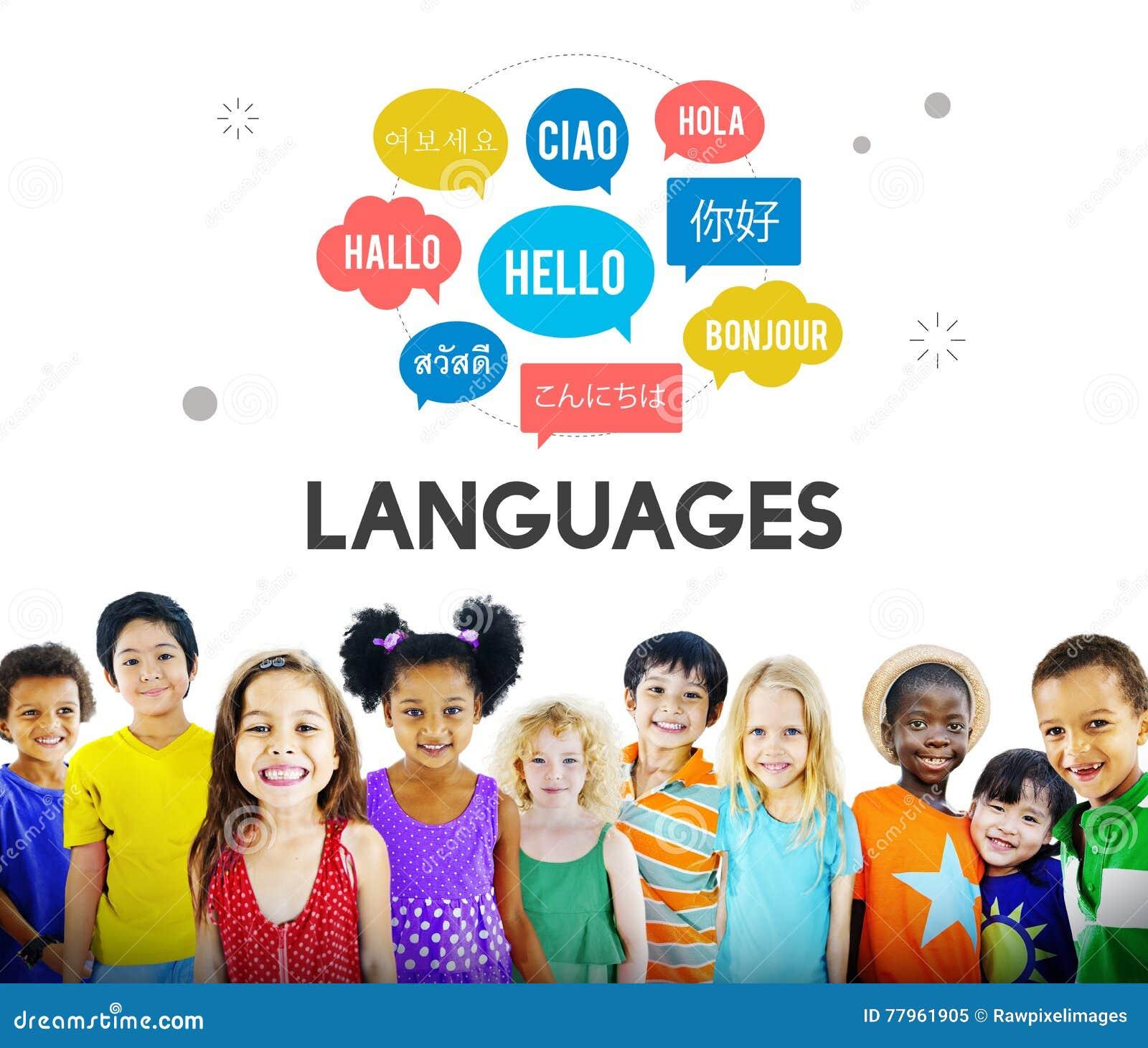 Multilingual greetings languages concept stock image image of ciao multilingual greetings languages kids concept m4hsunfo