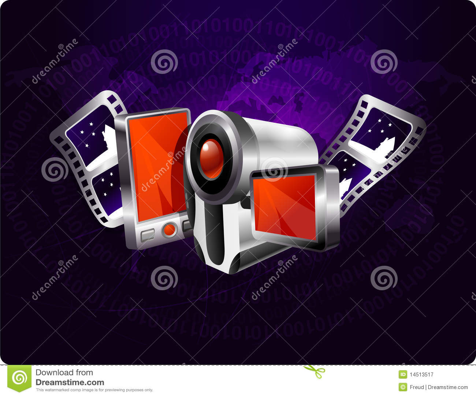 Multimedia Background Royalty Free Stock Photography