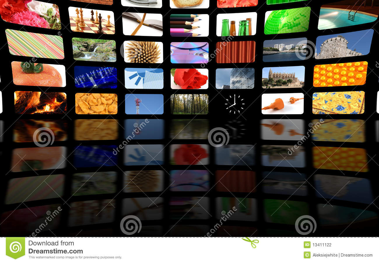 multimedia center business presentation stock photography