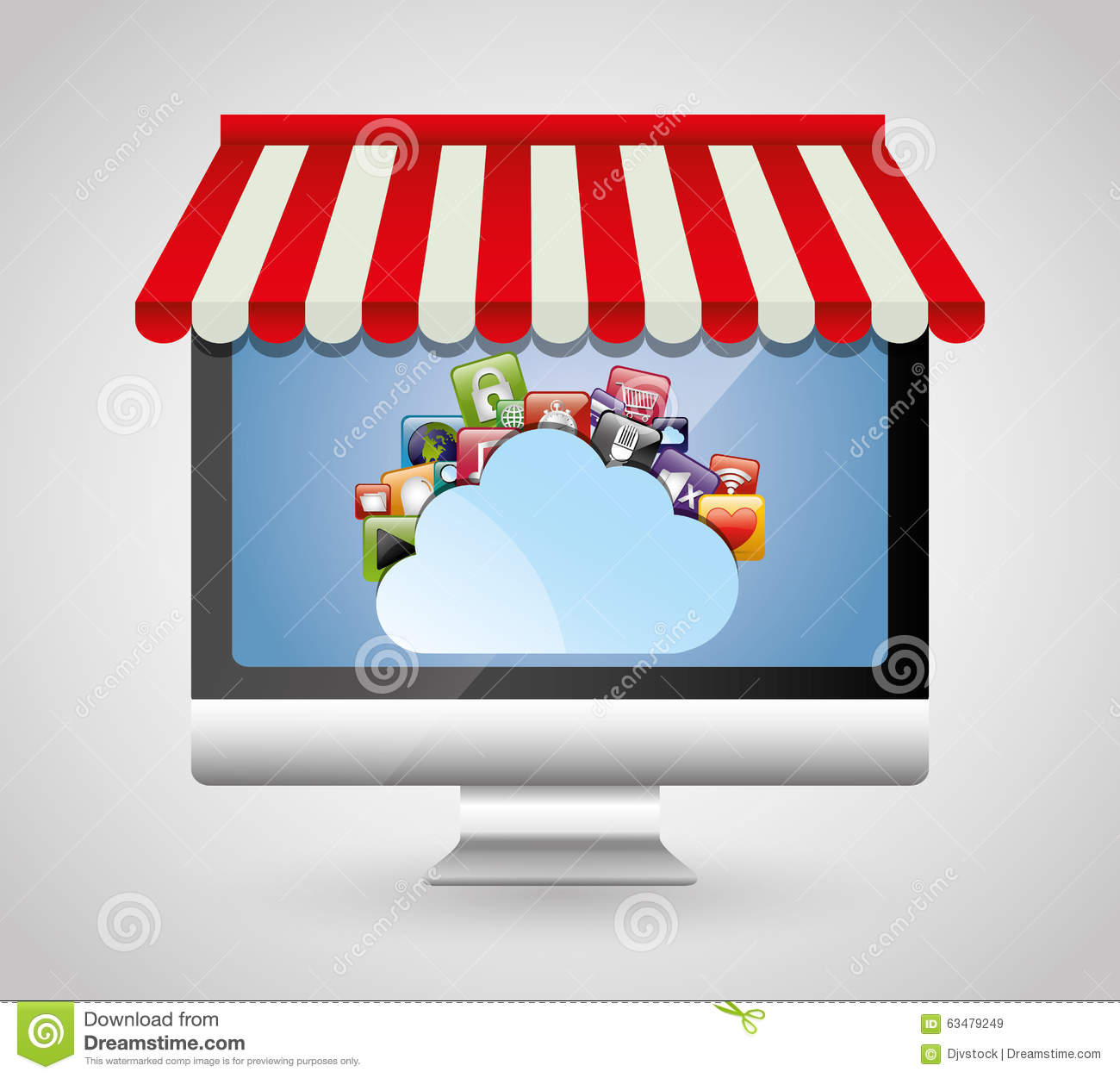 Multimedia Mobile Applications Stock Vector Image 63479249