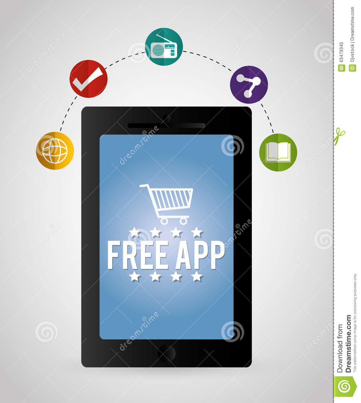 Multimedia Mobile Applications Stock Vector Image 63479345