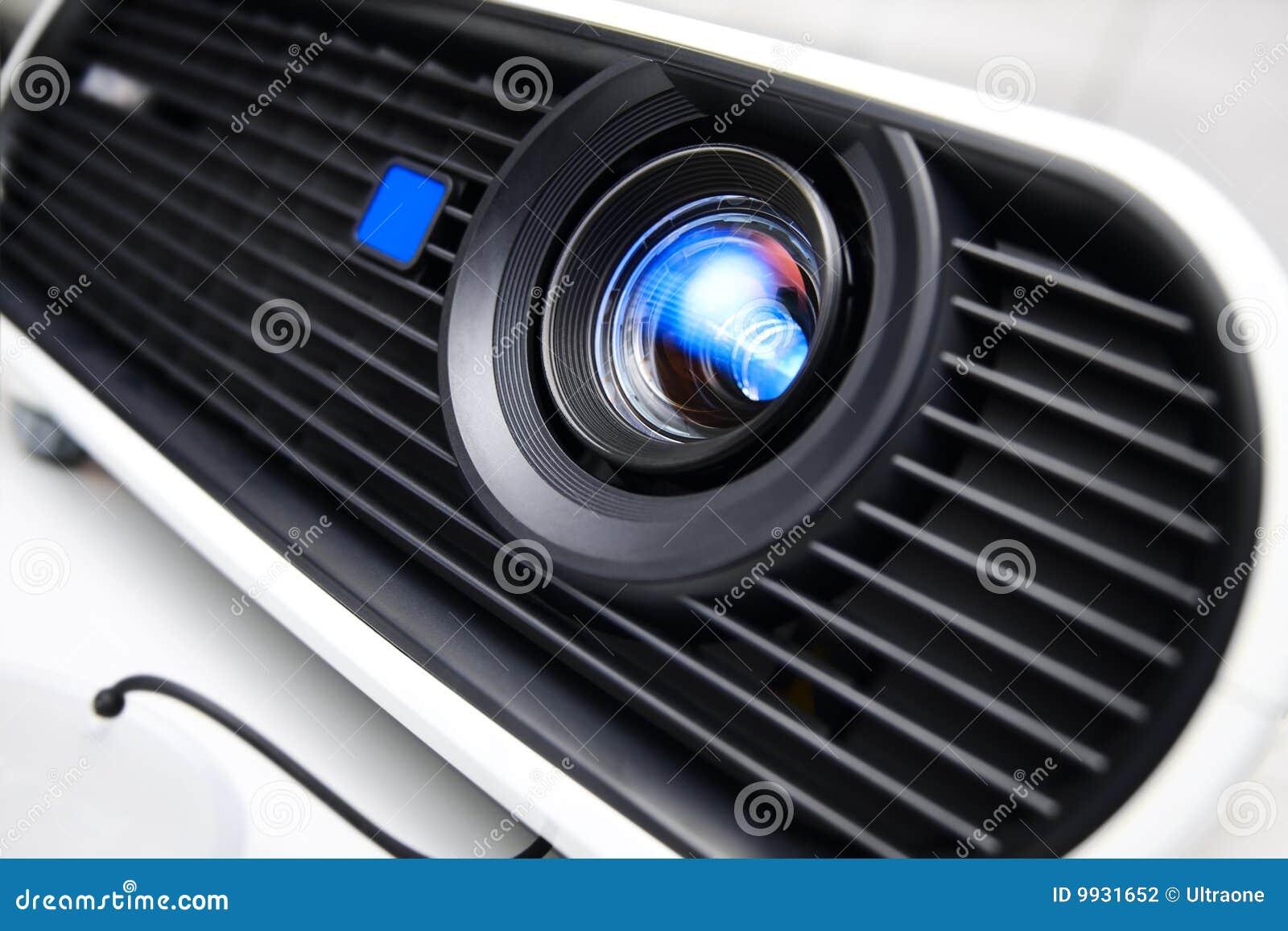 Multimedia projector closeup.
