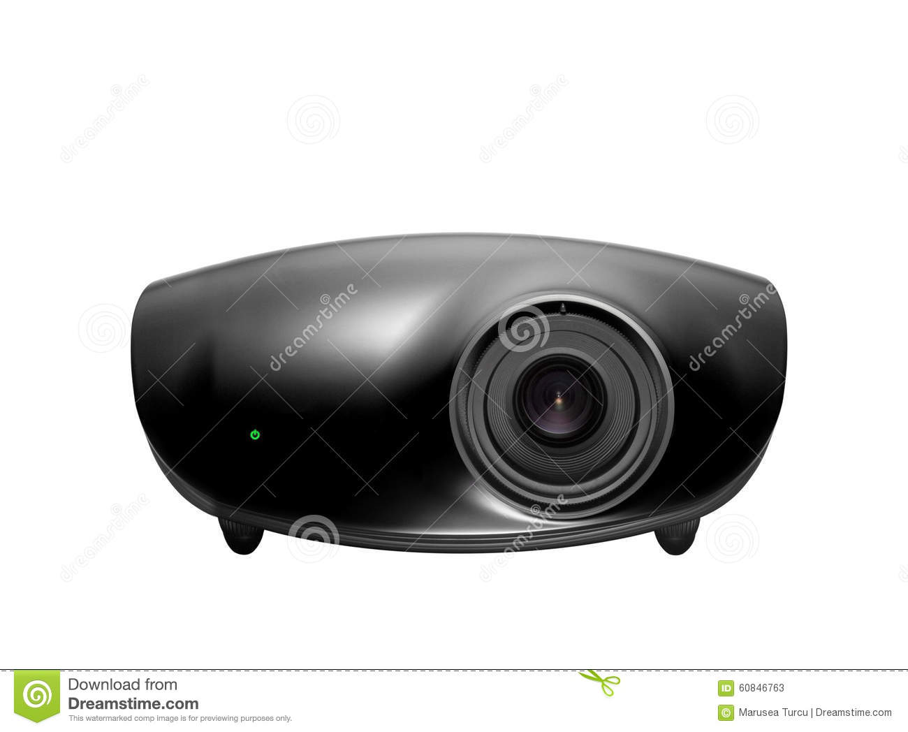Multimedia projector isolated