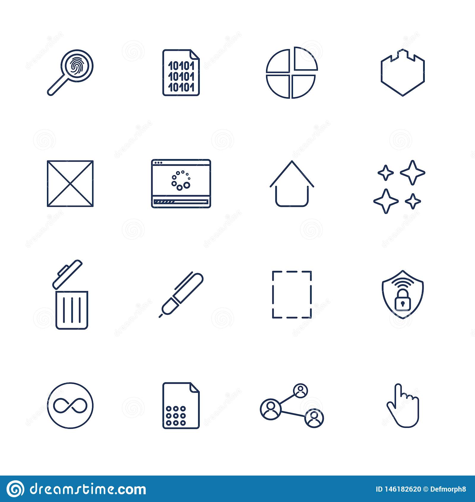 Multimediasymboler f?r app, program och platser universal f?r designsymbolsillustration dig