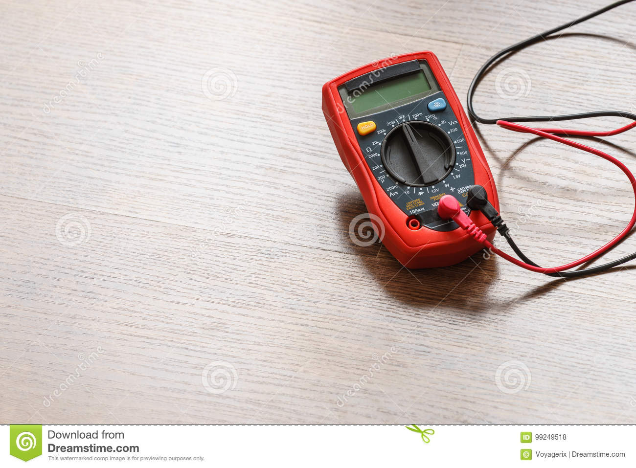 Multimeter for measurement of voltage