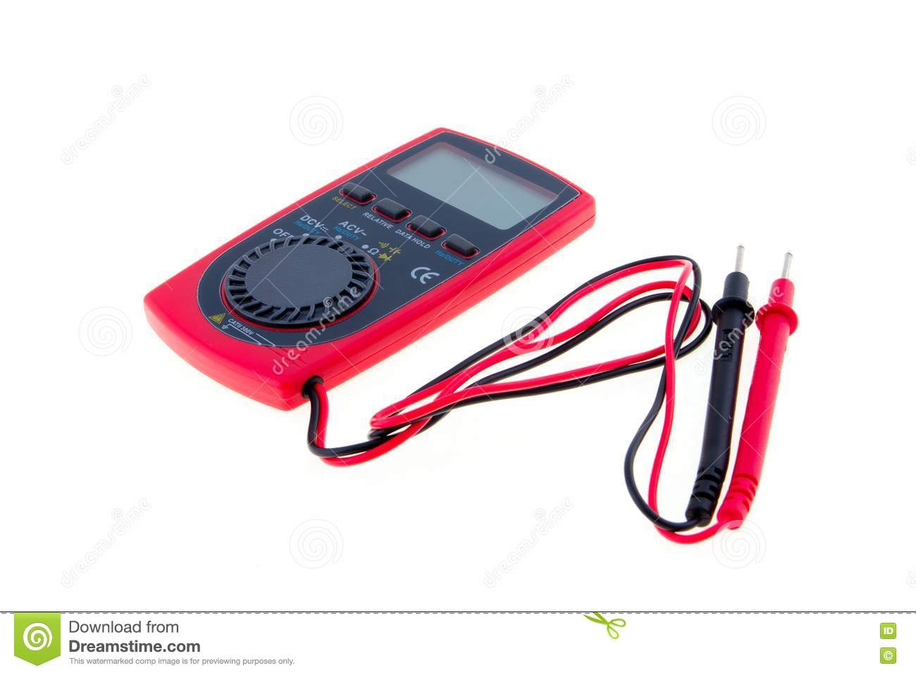 Analog Meter Background : Multimeter on a white background stock image