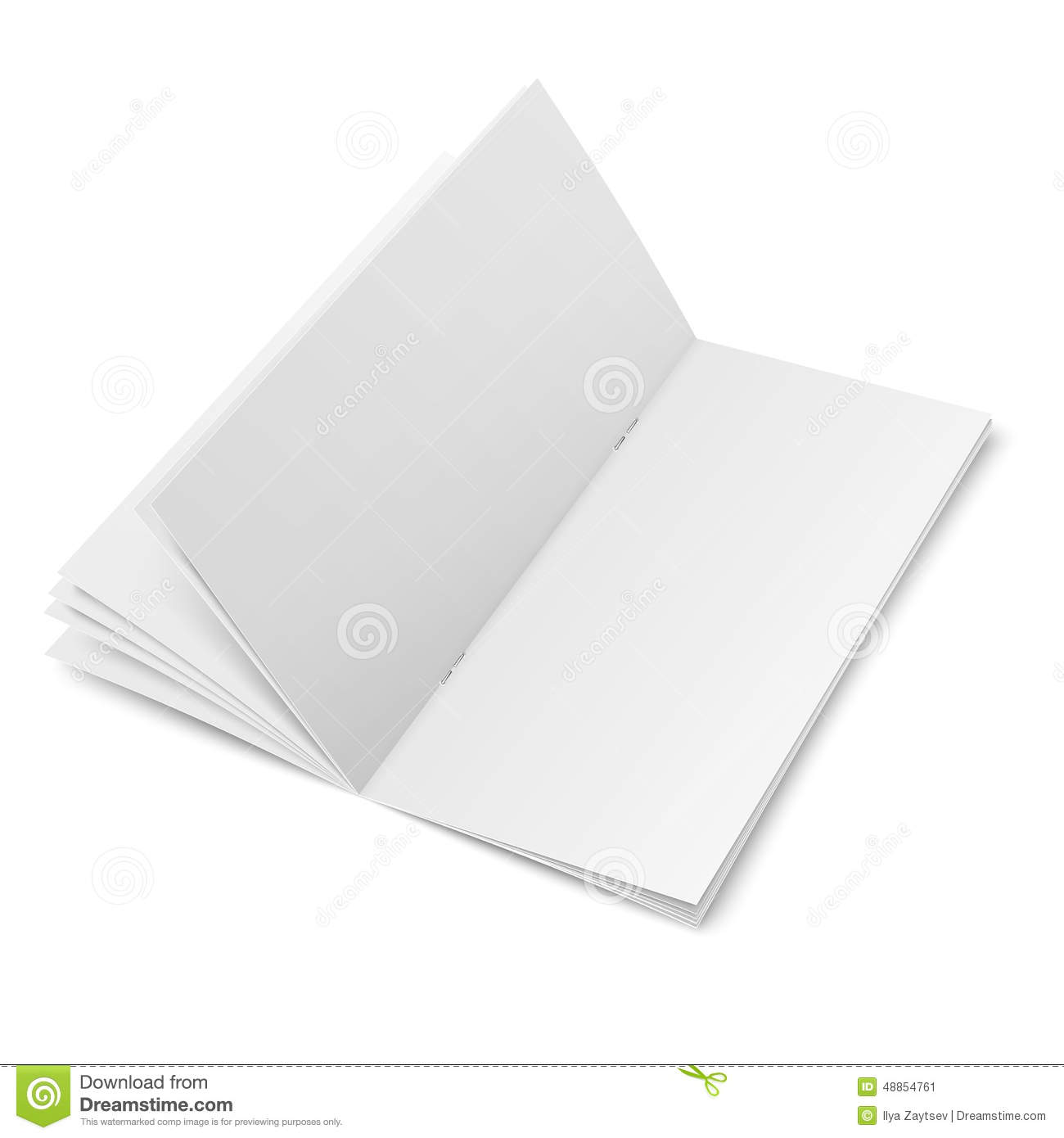 Multipage Brochure Template On White Background Stock Vector - Multi page brochure template