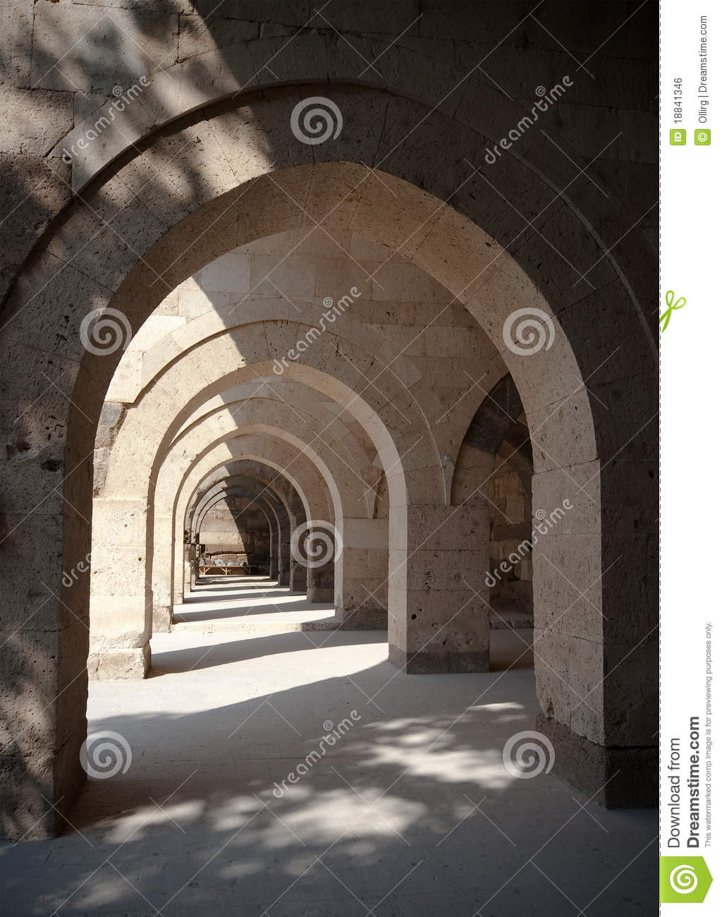 Multiple Arches And Columns Royalty Free Stock Image
