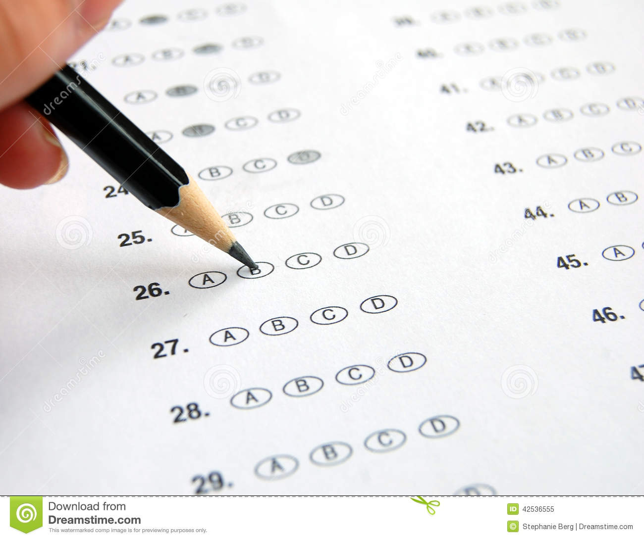 how to write a multiple choice test