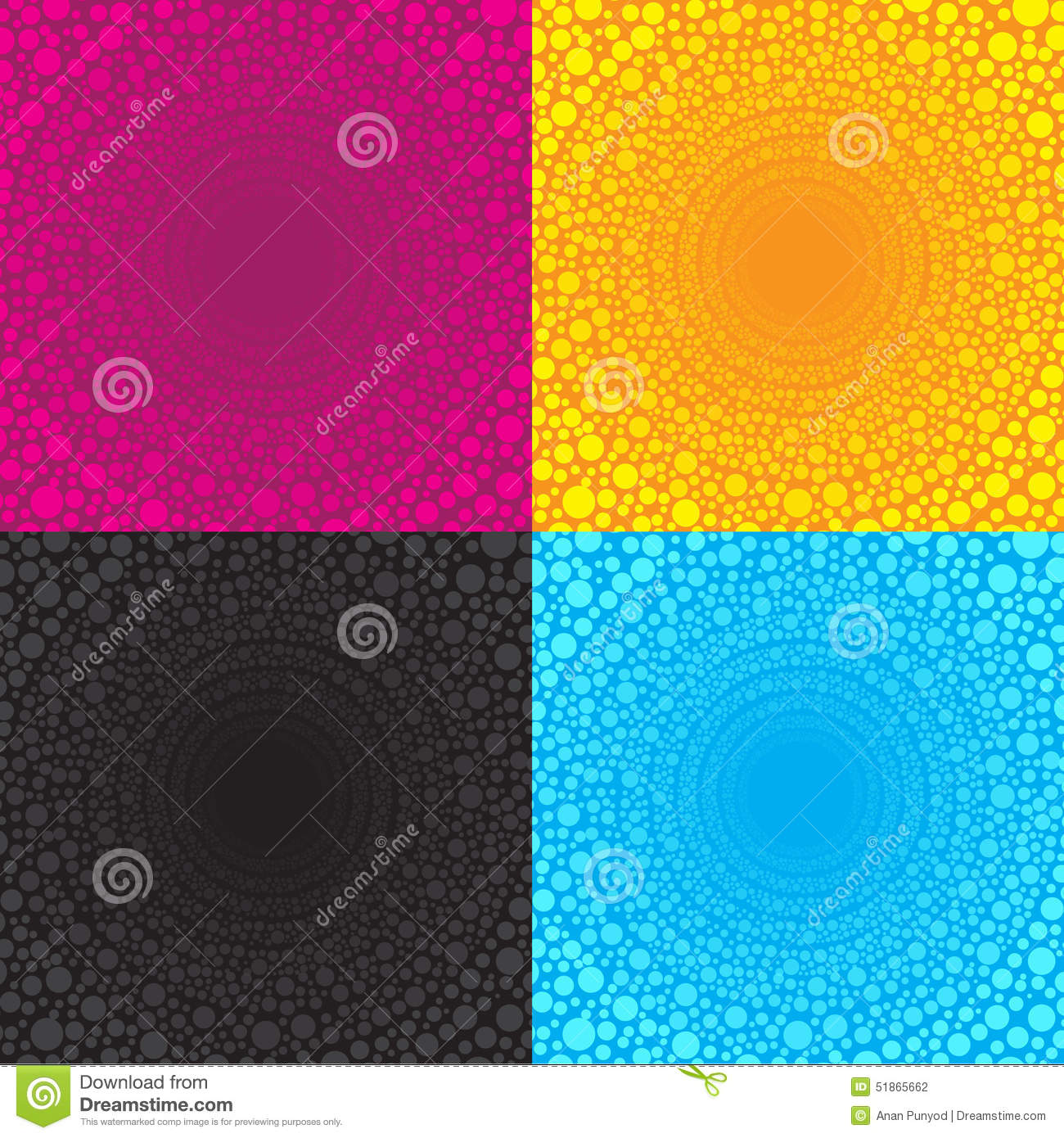 Halftone Patterns. Pink Dotted Background Cartoon Vector ...