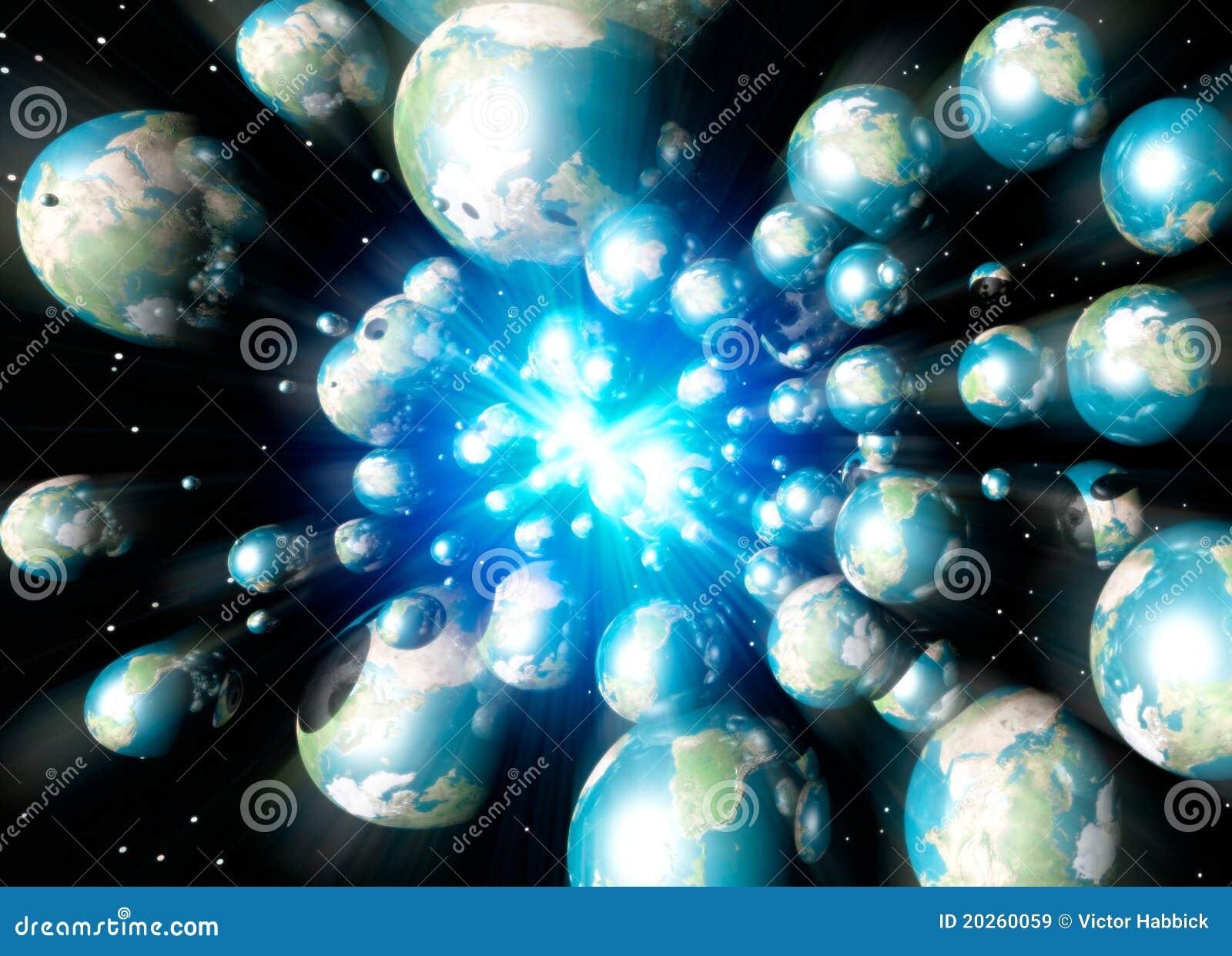 Multiple Earths speeding in space