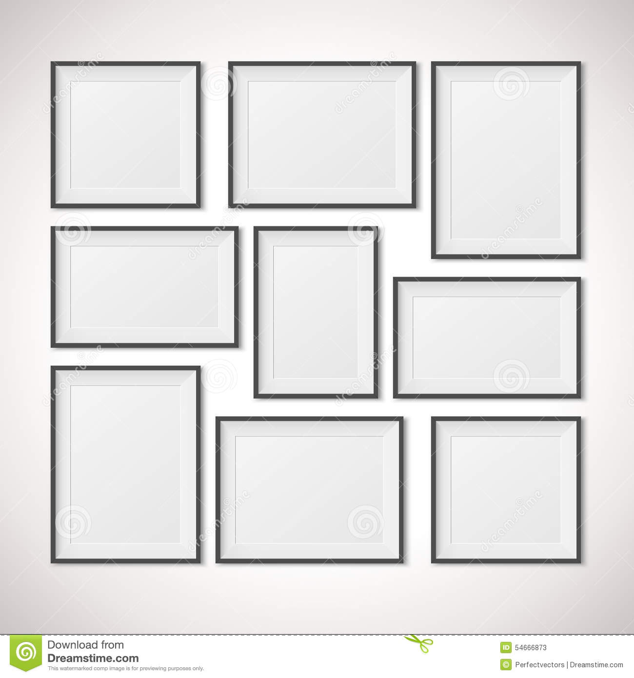 Multiple Frames stock vector. Illustration of blank, grey - 54666873
