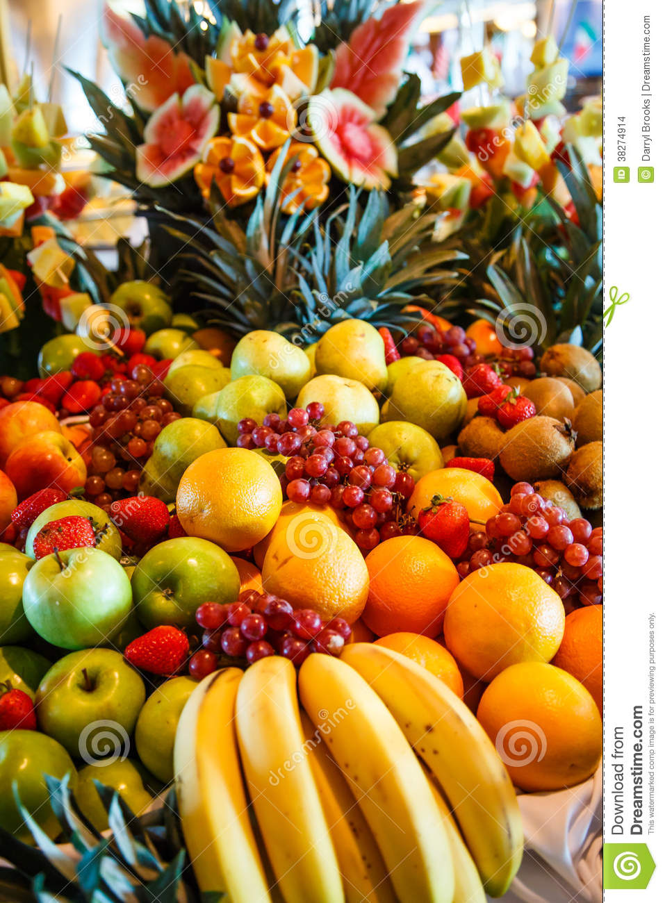Multiple Fruits On A Luxury Buffet Stock Photo Image