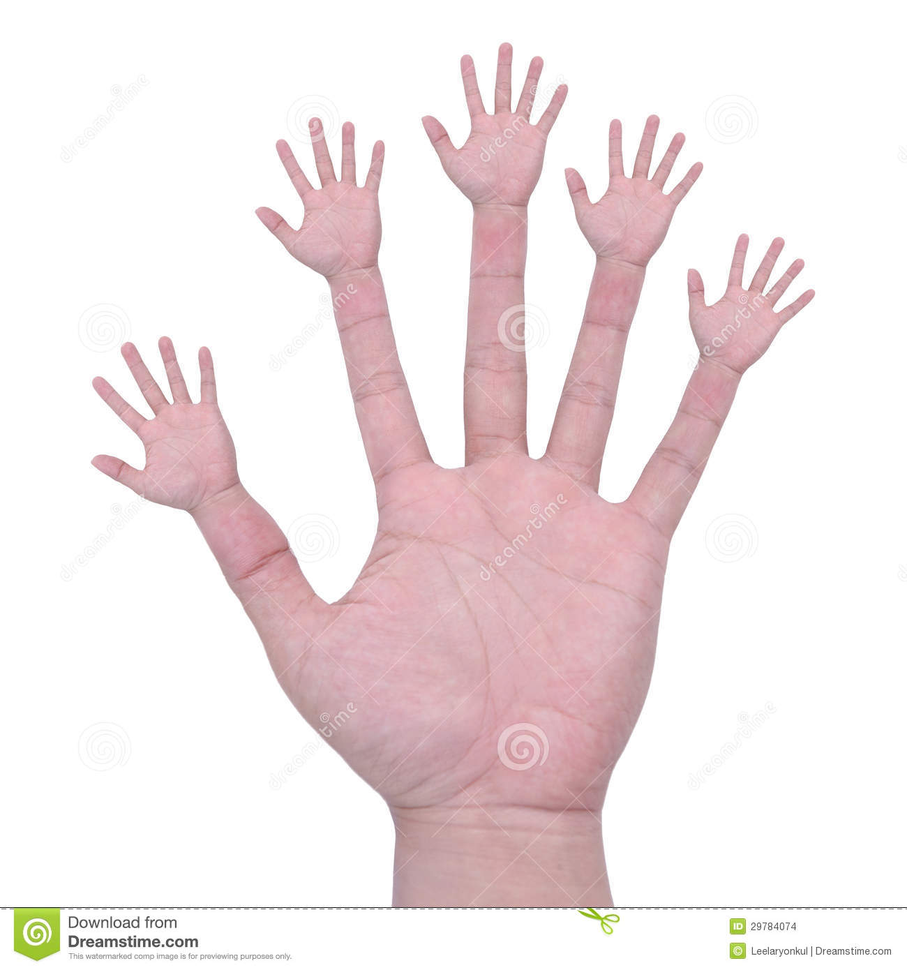 Multiple hands means a lot of hands helping all in one solution and ...