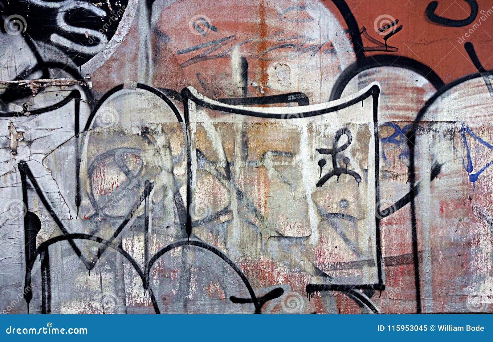 Multiple Layers Of Illegal Graffiti