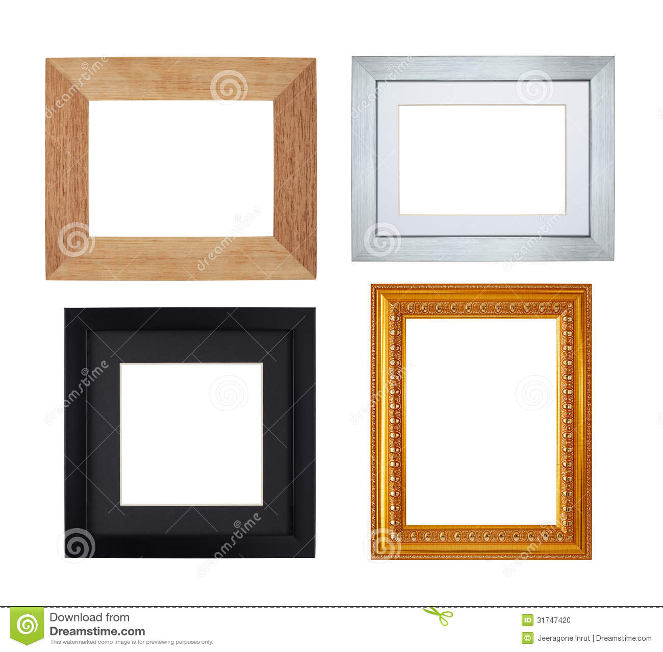 Multiple Picture frames stock photo. Image of studio - 31747420