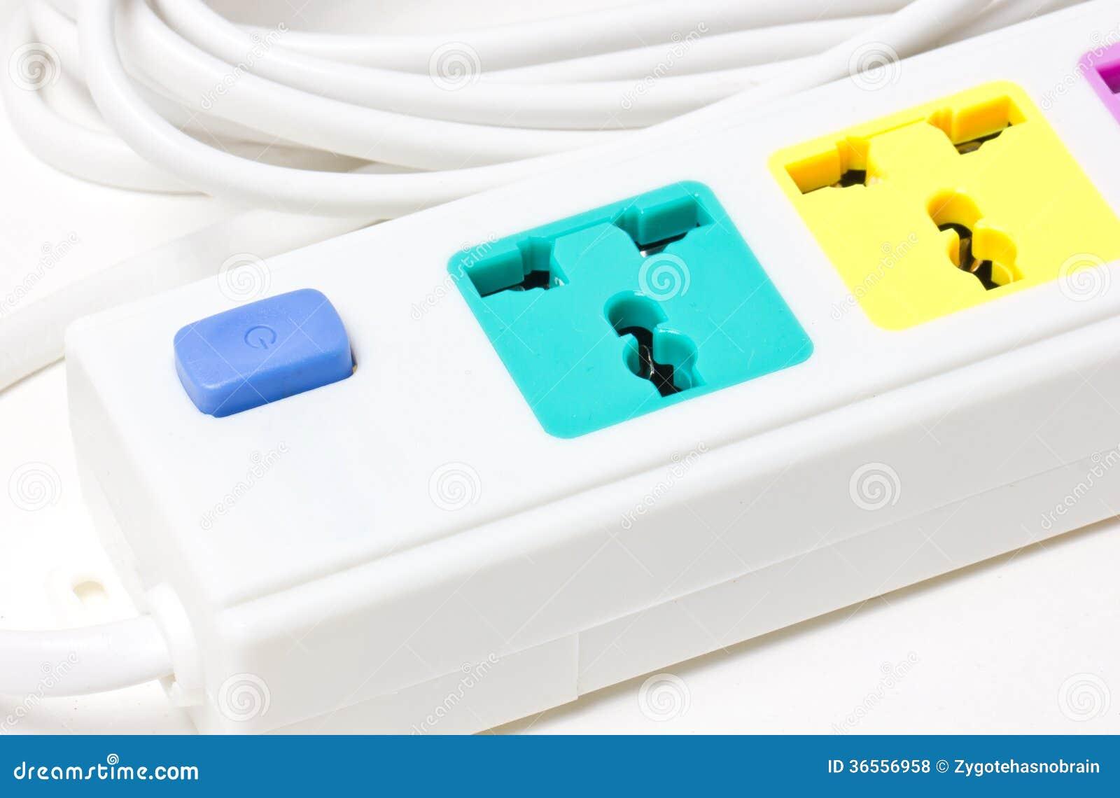multiple plug socket stock photo image of plastic energy 36556958. Black Bedroom Furniture Sets. Home Design Ideas