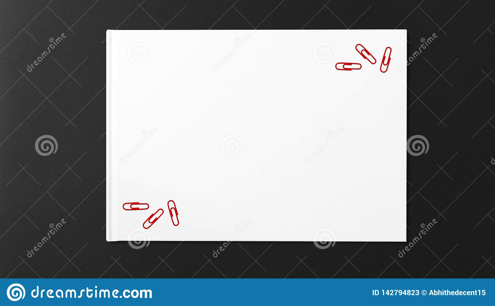 Multiple red paper on white paper on dark background