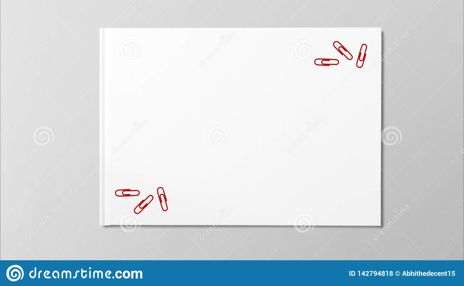 Multiple red paper on white paper on grey background