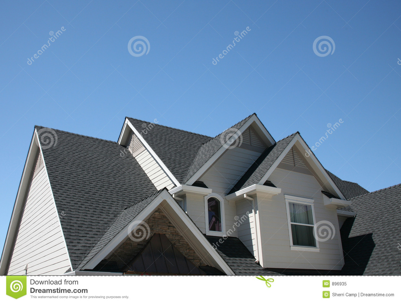 Multiple Roof Lines Royalty Free Stock Photo Image 896935