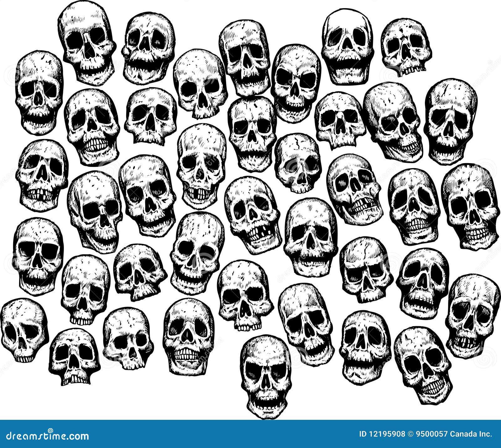 Multiple Skulls Royalty Free Stock Photos Image 12195908
